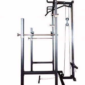 Side view of power rack